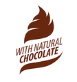 Logo cream with natural chocolate vector image
