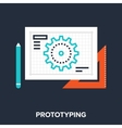 prototyping vector image