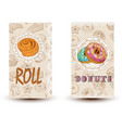 Roll and donuts bakery shop perfect for vector image