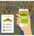 Taxi Navigation Map vector image