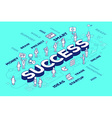 three dimensional word success with peopl vector image
