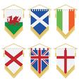 uk and ireland pennants vector image