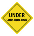under construction icon on white background under vector image