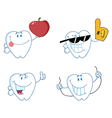 Cartoon teeth vector image vector image