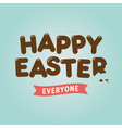 easter card chocolate letter vector image vector image