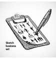 Clipboard With Business Sketch vector image