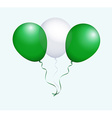 Balloons in as Nigeria National Flag vector image