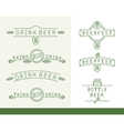 linear beer restaurant and bar or beer festival vector image vector image