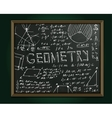 Geometry blackboard image vector image
