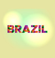 brazil concept colorful word art vector image