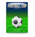football cup poster template with place for vector image