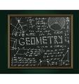 Geometry blackboard image vector image