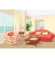 interior living room vector image