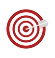 red target and arrow vector image