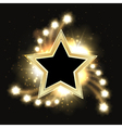 Stars sparkling gold background design with star vector image