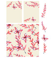 Watercolor butterfly and branch background vector image