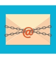 The gray chain letter and padlock vector image