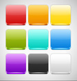 Set of Colorful App Icons Backgrounds vector image vector image