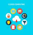 concept cloud computing vector image