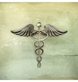 Caduceus old-style vector image