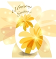 Greeting card for the Easter egg vector image