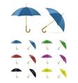 Color umbrella vector image