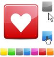Love glossy button vector image