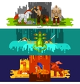 Mythical Creatures Banners Horizontal vector image