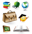 educational elements vector image vector image