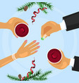 christmas celebration and betrothal ring vector image