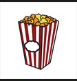 color sketch popcorn vector image