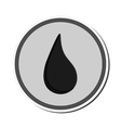 droplet badge icon vector image