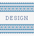 Embroidering design vector image