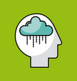 head cloud vector image