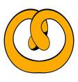 pretzel icon cartoon vector image