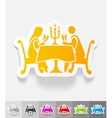 realistic design element people in the restaurant vector image