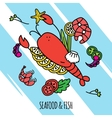 Seafood Concept vector image
