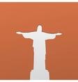Silhouette of a statue to Jesus Christ in Rio de vector image