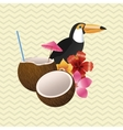 Tropical design bird concept nature icon vector image