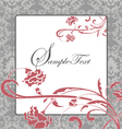 pink and gray damask card vector image vector image