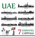 all the capital cities of the united arab emirates vector image