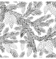 Seamless pattern fur-tree vector image