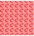 Pink and red hearts seamless Valentine background vector image vector image