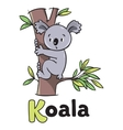 Children of funny koala vector image