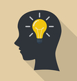 Human head thinking a new idea vector image