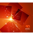 orange shiny abstract background vector image