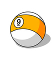 Pool ball number 9 vector image