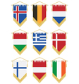 flag pennants vector image vector image