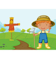 Farm boy vector image