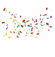 Colorful Confetti isolated on white Confetti vector image